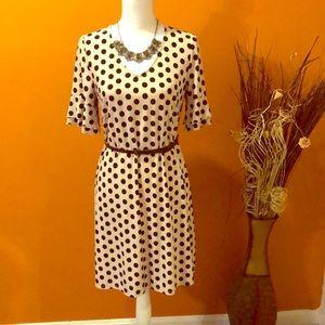 Polka Dots Ruffle Sleeves Dress